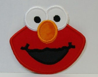 Elmo Patch  Embroidered Applique-100219
