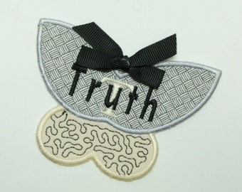 Truth Butterfly Embroidered DIY Applique Patch 100337