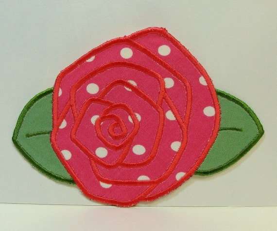 Fresh Rose Embroidered Applique DIY Clothing Patch-100242