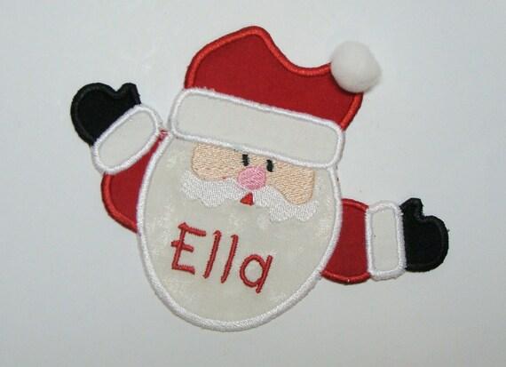 Big Hug Santa Embroidered DIY Clothing Applique Patch-100329