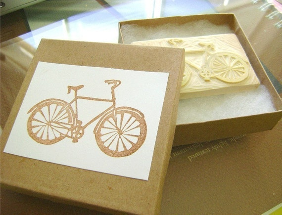 CUSTOM Hand-Carved Rubber Stamp for you (medium). One-of-a-kind art for Paper Crafting and more