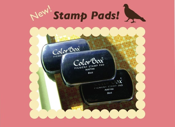 Quality ColorBox Pigment Ink Stamp Pads - You Choose Black Pewter Pink Celadon Chestnut Marigold Midnight Moss Green - for any size stamp