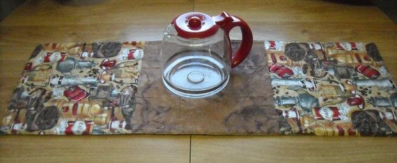 Brown Coffee Table Runner