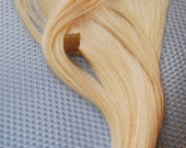 Full set of Light Blonde/Bleach Blonde clip in hair extension 16-18 Inches long--Wedding hair--