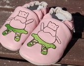 Ballerina Hippo Baby Shoes 0-6 Months
