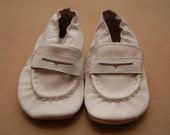 Christian Baptism Christening White Soft Leather Baby Shoes 6-12 months