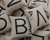 1 Scrabble Letter Pillow CASE ONLY // Scrabble Tile Pillow // Letter Pillow Cushion // Family Room // Game Room // Spelling // Alphabet