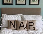 NAP Scrabble Pillows - CASES ONLY // Scrabble Tile Pillows // Letter Pillow Cushions