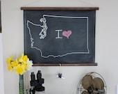 Chalkboard State Maps // Custom State Map Decor // 50 states // Washington // West Virginia // Wisconsin // Wyoming // Vermont // Utah