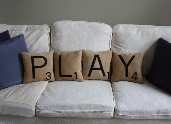 Letter Pillows - PLAY