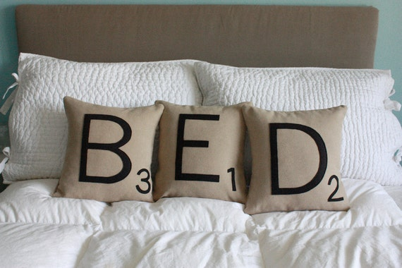 BED Letter Pillows - CASES ONLY
