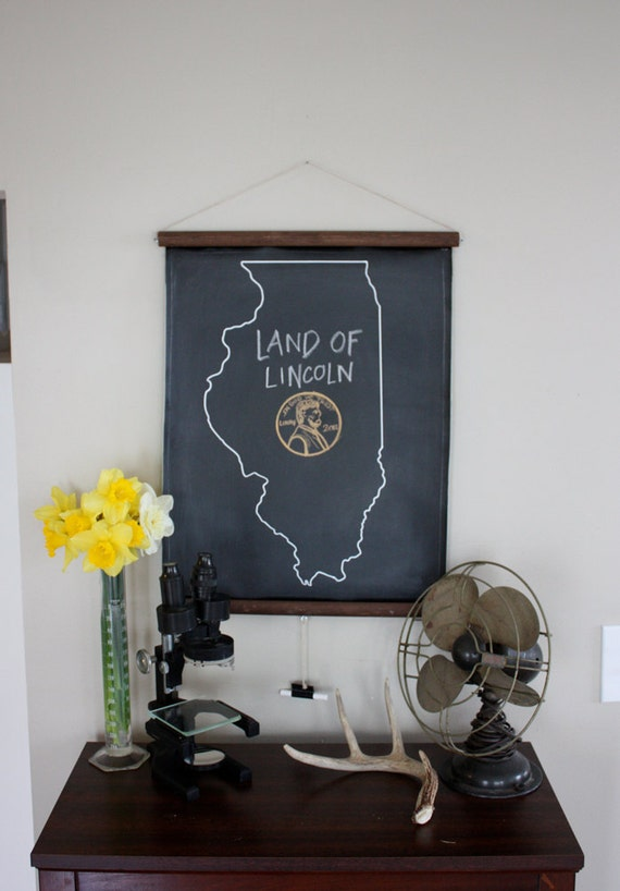Chalkboard State Maps // Custom State Map Art // 50 states // Illinois // Indiana // Idaho // Iowa // Kansas // Michigan // California