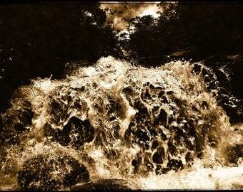 In the Waterfall II - 5x7 print in 8x10 mat, vintage look photograph, nature photography, water photography, brazil photo