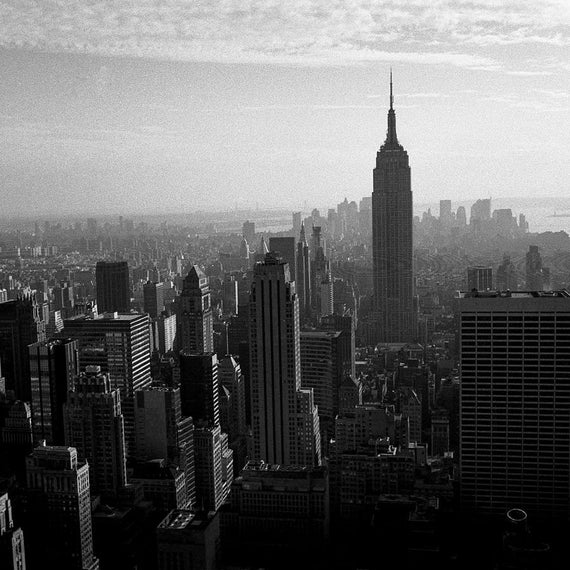 NYC II - 8x10 paper, traditional black and white photograph, new york city black and white photography
