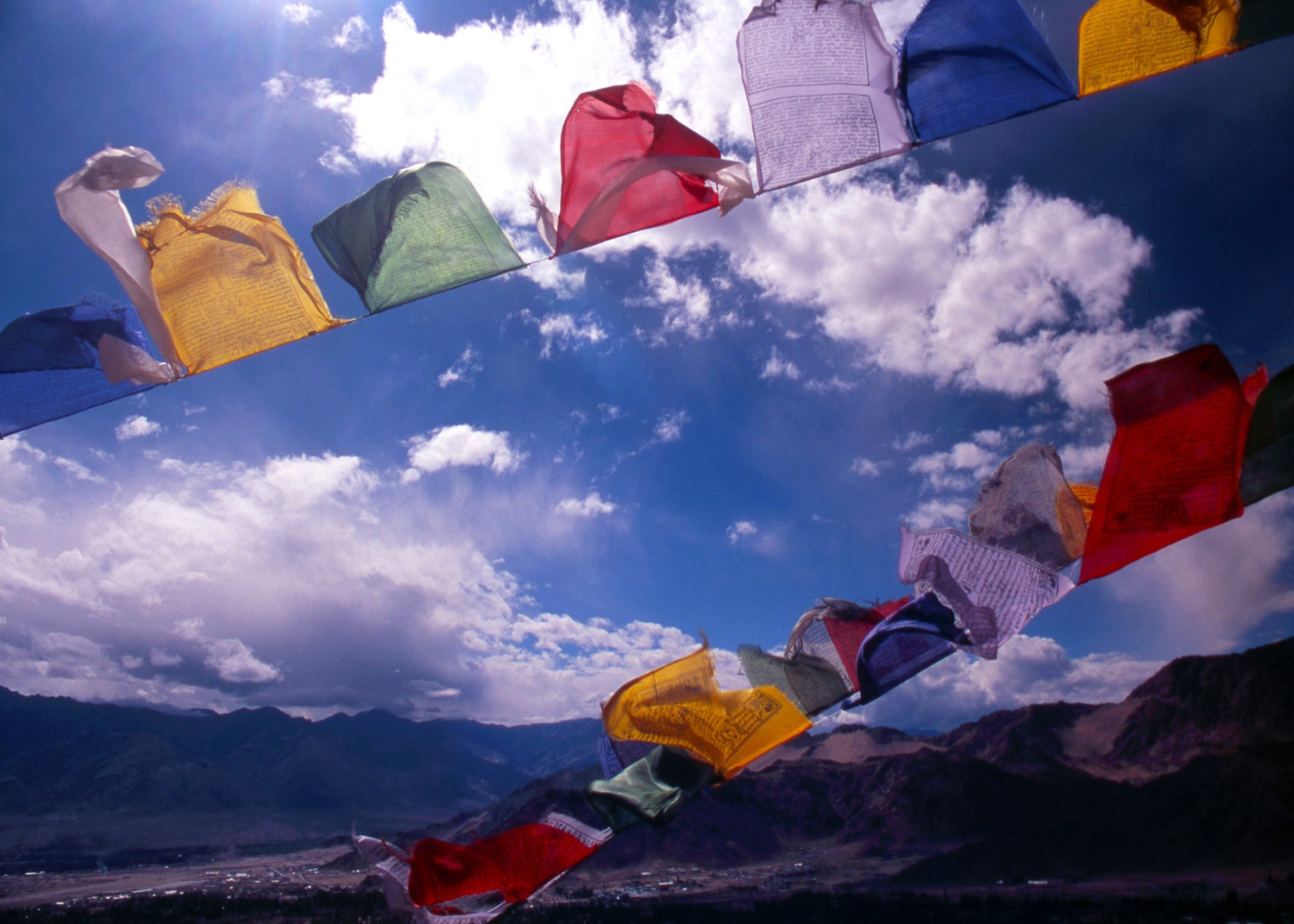 Tibetan Prayer Flags Ladakh Ii 5x7 Print In By