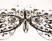 Papercuts-cutouts-handcuts-Beautiful butterfly