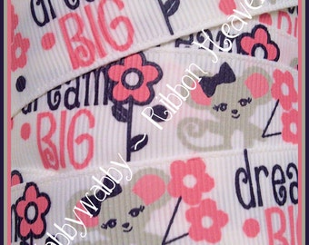 7/8 M2MG Miss Mouse Grosgrain Ribbon 5 Yards - TWRH