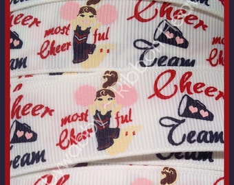 5 Yards 7/8 MTMG Homecoming Cheer Grosgrain Ribbon - Twrh