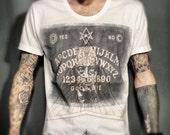Unisex Ouija Board T-Shirt, Aleister Crowley, XS/S/M/L/XL
