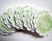 Thank You Tags Lime Green Pack 30 great for Lolly Bags