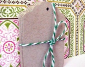 Kraft Cardstock Scalloped Merchant Gift Tags Medium Pk 50