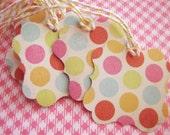 Cute Confetti Flourish Square Gift Tags, Birthday, Customer Hang Tags Pk 10 (last set)