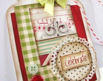Vintage Style Jumbo Scalloped Gift Tag Birthday, Celebrate, Special Occasion, Gift Giving