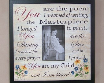 You are the masterpiece I longed to paint picture frame by laurie sherrell in black