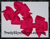 Small Pigtail Pinwheels Hair Bow Clips in Your Choice of Color