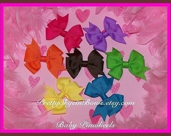 Baby Pinwheel Hair Bow Clip Collection  Get a Free Bow with this Purchase
