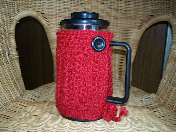 French Press Cozy Bodum Crocheted Cafetiere Cozy
