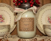 Natural Soy Candles 16 oz Hand Poured in Mason Jar