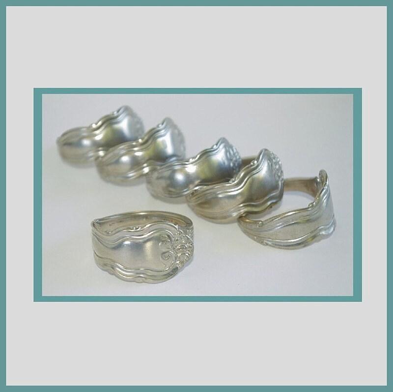 Silverware napkin rings utah metal set of add pizazz