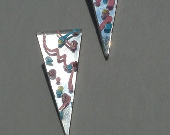 rad  punk rock vintage earrings mirror new wave art pastels