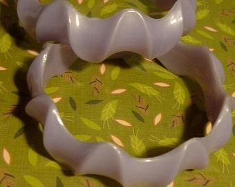 cute lilac purple pastel  bangle bracelets vintage plastic