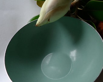 Cathrine holm aqua bowl metal enamel Norway 1940s