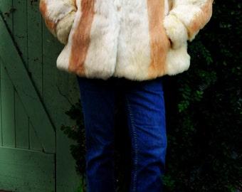 1980s vintage rabbit fur jacket