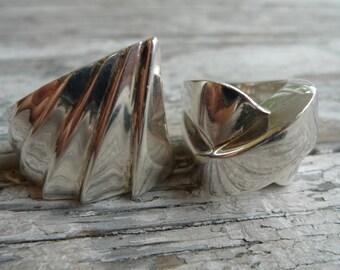 silver ring vintage Peruvian handmade jewelry original design