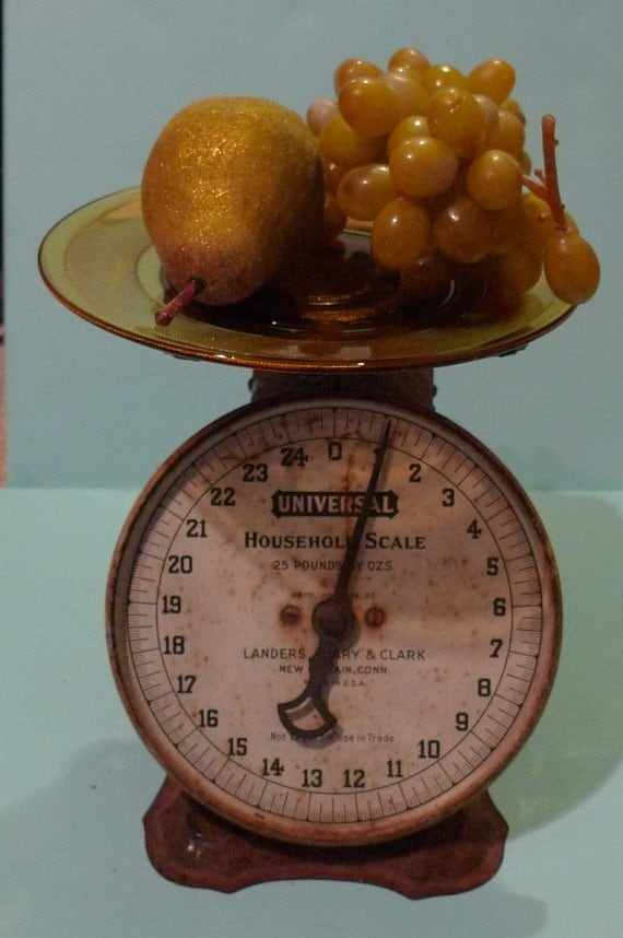 vintage scale rustic home universal household scale 1920