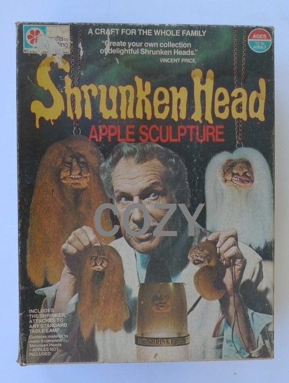 vincent price shrunken head kit apple craft 1975 PRICE SLASH