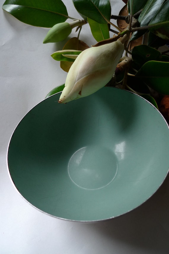 Cathrine holm aqua bowl metal enamel Norway 1940s