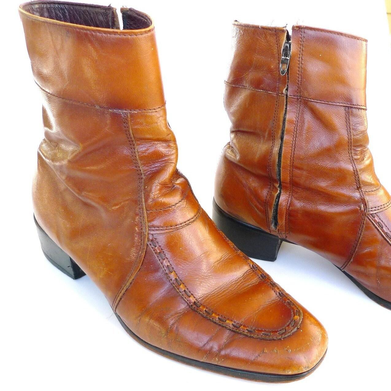 steve mcqueen chelsea boots vintage mens boots ankle zipper
