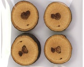 Small treebutton (pack of 4) handcrafted magnets