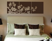 Leaves Branch Panels Block Tiles Wall Art Graphics Lettering Decals Stickers 724