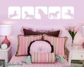 Unicorn Horse Squares Girls Toddler Infant Room • Vinyl Lettering • Decor Vinyl Wall Art Graphics Decals Stickers 982