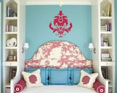 Large Damask - Home Decor - Wall Patterns - Vinyl Lettering - Vinyl Decals - Removeable - Vinyl Wall Graphic Decals Stickers 1142