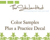 Color Samples Plus Test Decal of Vinyl - Test out Vinyl Wall Stickers - Wall Decals - Wall Art Graphics Decals Stickers