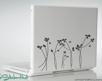 Whispering Flowers - Vinyl Lettering - Removeable - Vinyl Laptop Graphics Decals Stickers L06