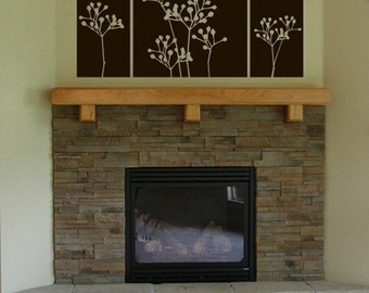Seedling Flower Block Tile Panel Home Decor Wall Art Graphics Lettering Decals Stickers