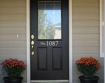 Street Number Front Door Sticker - No with Your House Numbers Front Door Address Vinyl Decals Stickers 971